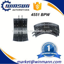 Fuwa 16T BPW Rear Axle Brake Shoe With OE Number 4551