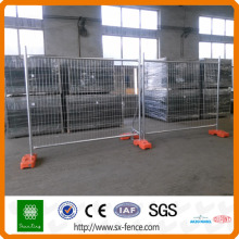 Metal frame welded temporary fence