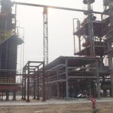 Destilación fraccional industrial de aceite de motor usado