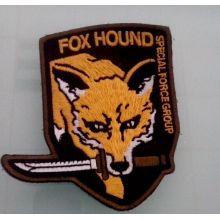 Значок золотой вымпелы волка Изображение золотой вышивки Нерегулярные патч (GZHY-PATCH-004)