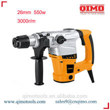 china rotary hammer drill 26mm 800w 550r/m qimo power tools