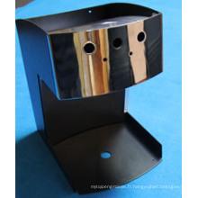 Boîtier en acier inoxydable finition miroir pour machine à café