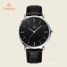Relógio de quartzo analógico Timesea com estojo fino 72297