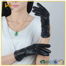 Fashion Winter Leather Gloves Ladies Sensory Gloves Leather with Touch Function