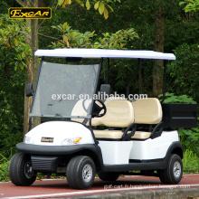 Prix de chariot de golf électrique d'EXCAR 4 places avec la voiturette de golf électrique de cargaison de golf de cargaison