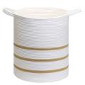 Hilo de algodón promocional ropa cesta de almacenamiento de cuerda tejida
