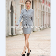 2016 fashion woman's cashmere knitting suit