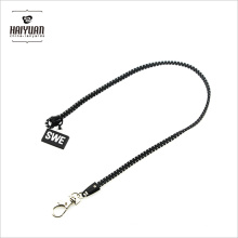 High End Famous Brand Patterned Rock Band Zipper Neck Lanyards