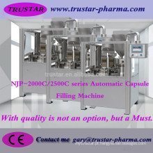 Máquina de enchimento automática da cápsula de NJP-2000C (roda do sulco) Maquinaria farmacêutica