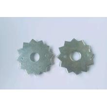 Rondelle plaquée zinc