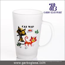 12oz Frosted caneca de vidro do café com beber (GB094212-DR-110)