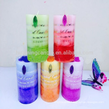 color Party decorated candle