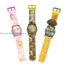 Flip top flashing light children gift watch
