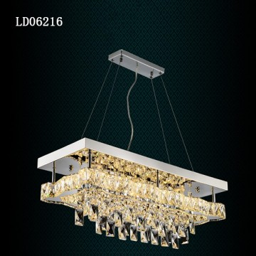 Led Square Lighting Modern Crystal Pendant