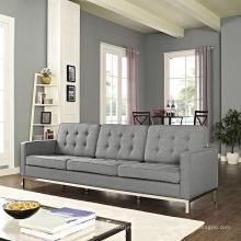 Conjunto de sofá de tecido de 3 lugares com móveis de casa