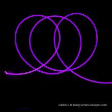 Câble de lumière à fibre optique latérale