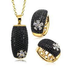 Conjunto de jóias em prata esterlina 925 Configuração de micro-pavimentação