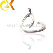 China alibaba Colgante de los hombres de la joyería del acero inoxidable, colgante hueco de encargo del corazón