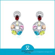 2014 Новая элегантная серебряная серьга моды для Ladys (SH-E0155)