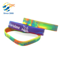 High Grade Cheap Debossed Mix color Rubber Silicone Band