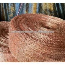 Maillage en fil de tricot en cuivre pour fabriquer une boule de sablage et de rondelle