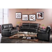 Sofá reclinável elétrico do sofá da chaise de couro genuíno (724)