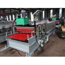 Máquina formadora de rolos de dupla camada para coberturas de metais