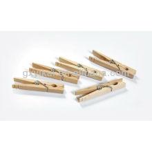 Juego de 20 piezas mini clavijas de madera brich