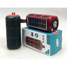 WSTER WS1859 Support USB TF CARD FM RADIO With Torch With Solar Fm Receiver Outdoor Music System Speakers Manufacturer