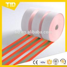 Tela reflectante resistente a la llama roja naranja 50 ciclos industriales de lavado