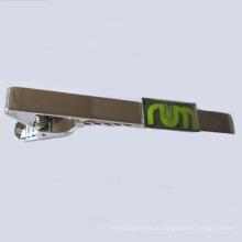 Пользовательский никелированный металлический зажим для галстука (GZHY-LDJ-002)