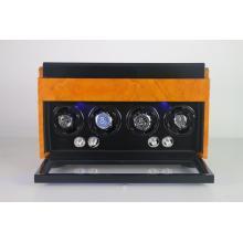 Enrolador de relógio de quatro rotores com armazenamento de jóias