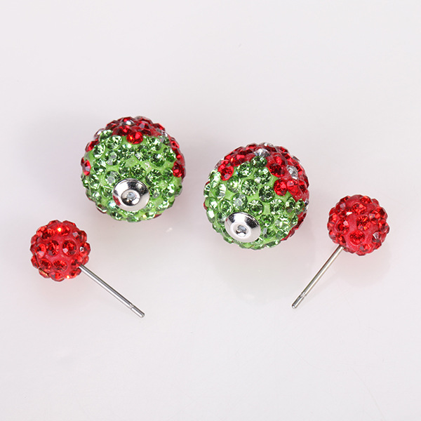Double Size Shamballa Anti Allergy Earring