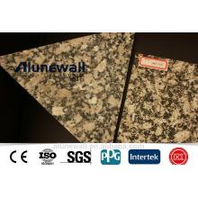 Alunewall A2 B1 incombustible Marble / Timber Finishing color de grano Panel compuesto de aluminio