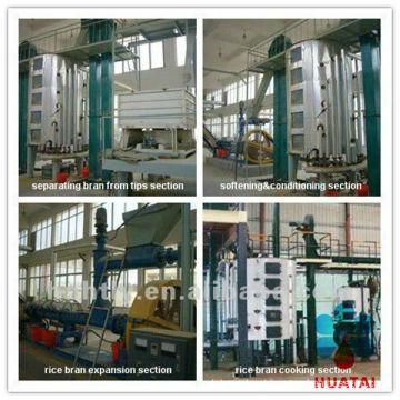10-500TPD pequena fábrica de extração de óleo comestível de farelo de arroz automática