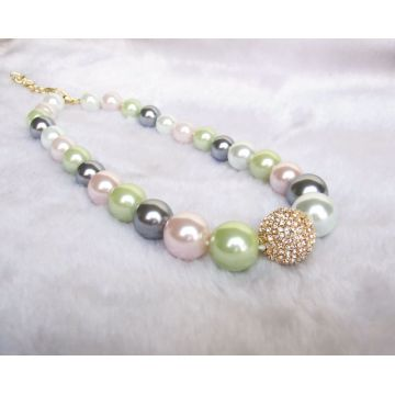 Color Pearl Beads Necklace
