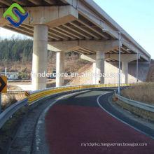 Highway guardrail roller barrier