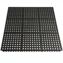 Heavy Duty Safety Rubber Holes Drainage Rubber Floor/ Shock Absorption Rubber Ring Mat