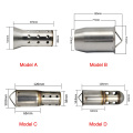 Tubo de escape Bafte silenciador 51/60 MM Universal de escape Motocicleta Silenciador Insertar DB Defender Motocicleta DB Killer Silencer