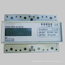 Medidor eletrônico trifásico da energia do Trilho-Trilho da alta qualidade