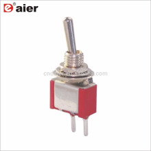 6MM Single Pole 2 Pin Leiterplattenklemmen 2 Way Toggle Switch ON OFF