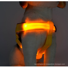 2016 pet collar making supplies nylon led pet collars / dog harness