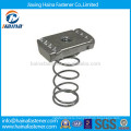 Stainless Steel 304 316 Strut Channel Square Spring Nut M6-M12