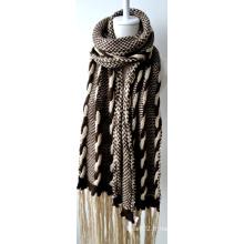 Châle en acrylique tricoté (12-BR201712-8)