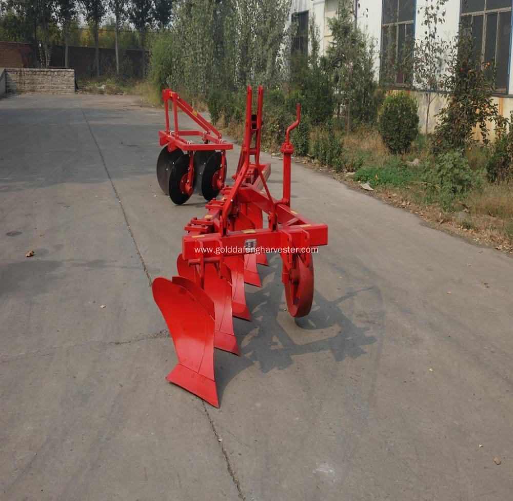 Tractor mounted five furrow plow