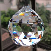 Lustres en verre cristal taillé à la machine