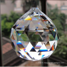 Machine Cut Crystal Glass Chandeliers Ball Pendant