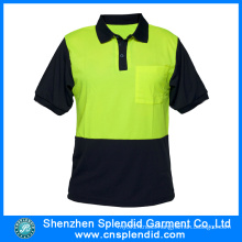 Custom Workwear Hi Vis Reflective Working Polo T-Shirt