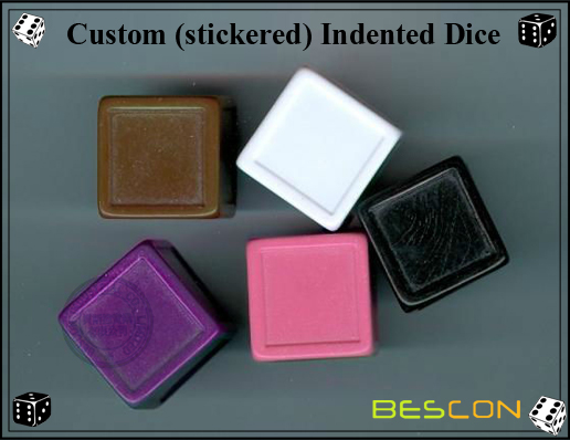 Colorful Blank Indented Dice-3