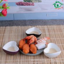 Proveedor de China Plato vendedor caliente del sushi de la forma del corazón